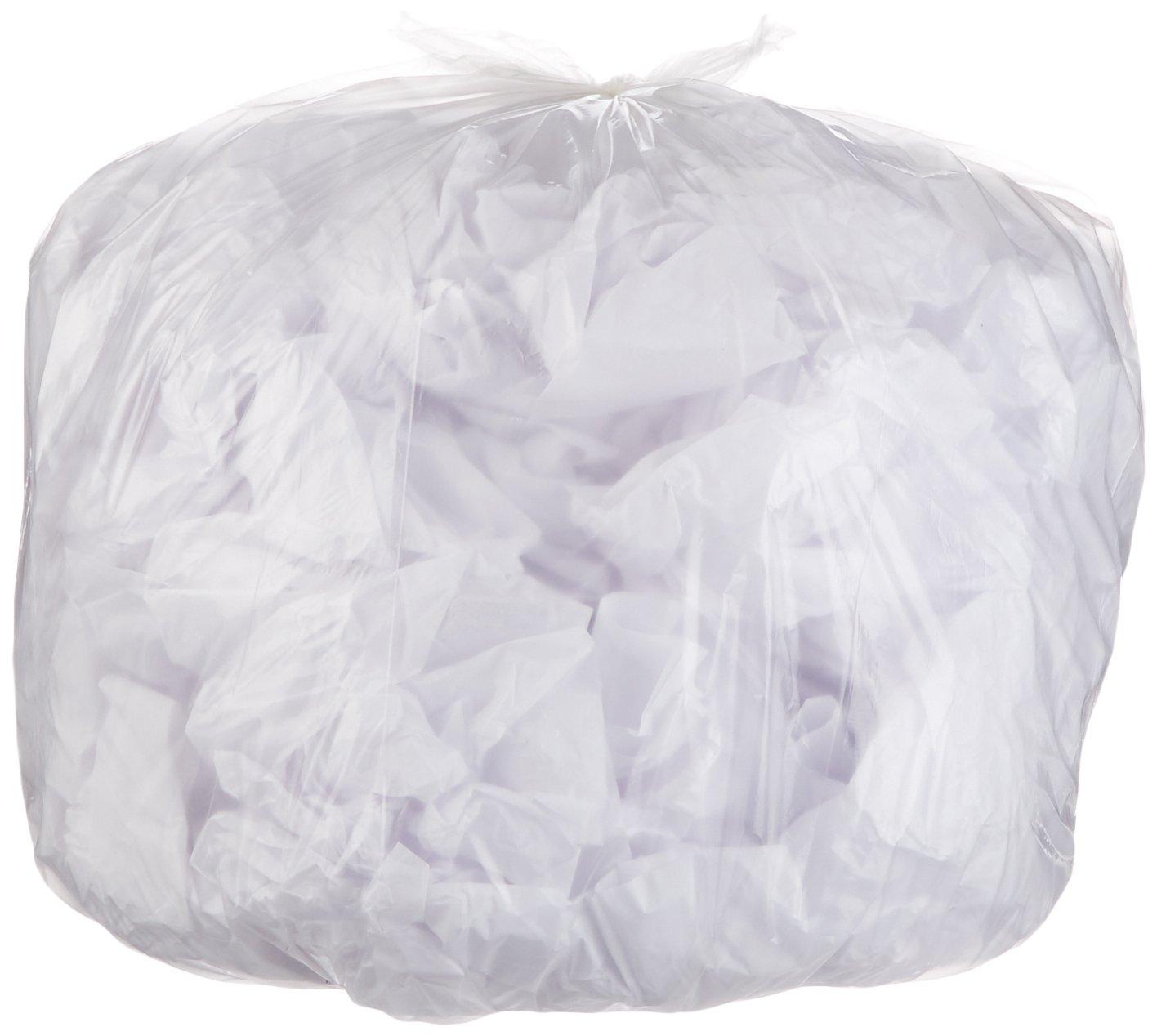 AmazonBasics 45 Gallon Recycling Trash Bag, 1.1 mil, Clear, 150-Count by AmazonBasics (Image #1)