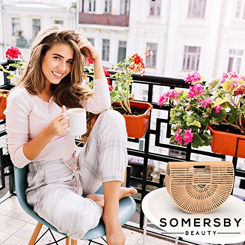 Bamboo Handbag - Womens Basket Bag with Purse Insert - Handmade Summer Tote by Somersby Beauty (Image #3)
