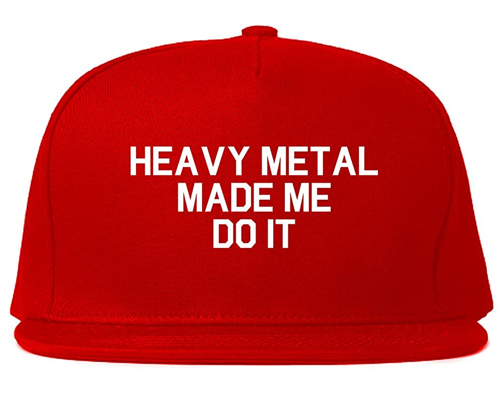 Amazon.com  FASHIONISGREAT Heavy Metal Made Me Do It Snapback Hat Cap  Black  Clothing 961bad53280f