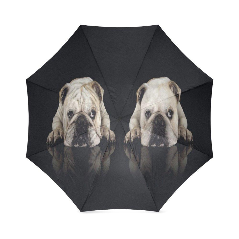 Custom Cute Labrador Dog Puppies Compact Travel Windproof Rainproof Foldable Umbrella