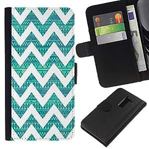 All Phone Most Case / Oferta Especial Cáscara Funda de cuero Monedero Cubierta de proteccion Caso / Wallet Case for LG G2 D800 // Native Teal Pattern Vintage
