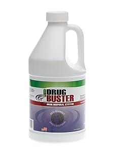 Medline OTC3200H Drug Buster Drug Disposal System, 64 oz bottle, used for pill disposal, destroys prescription medications safely, and safe disposal of medications
