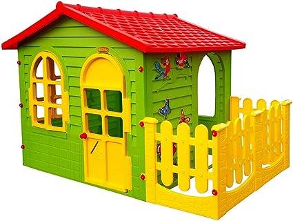 Moch Toys 5907442104981 Big hogar para niños con jardín casa de Juguete: Amazon.es: Juguetes y juegos