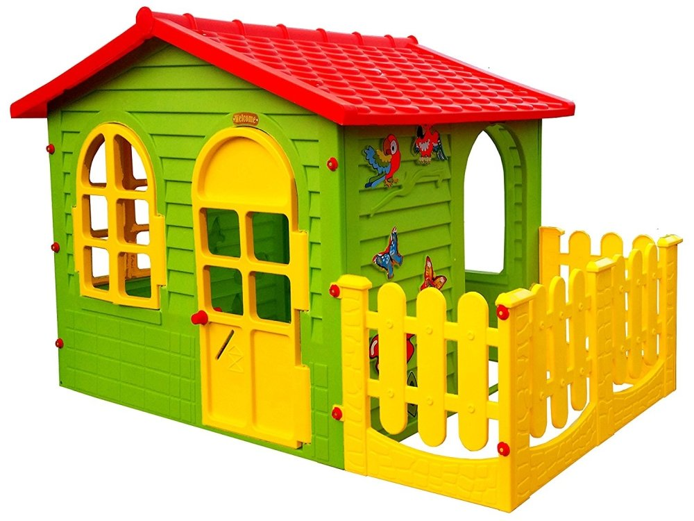Playhouse - Green with Red Roof - 10498