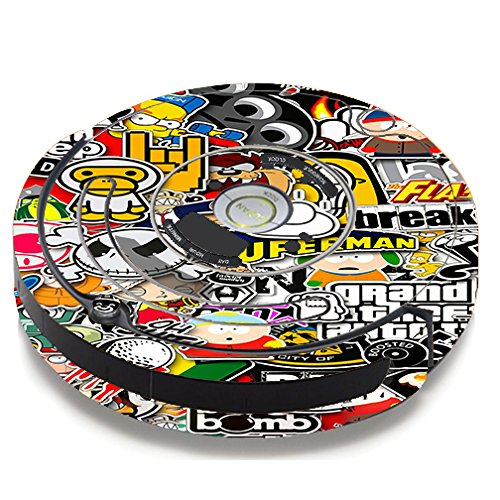 Skin Decal Vinyl Wrap For IRobot Roomba 650 655 Vacuum / Sticker Slap