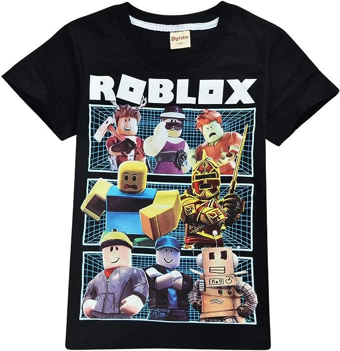 Roblox Camiseta Exquisitos Trajes de Vestir para niños Camisas de Manga Corta de Fibra de bambú elástica y elástica niños: Amazon.es: Ropa y accesorios