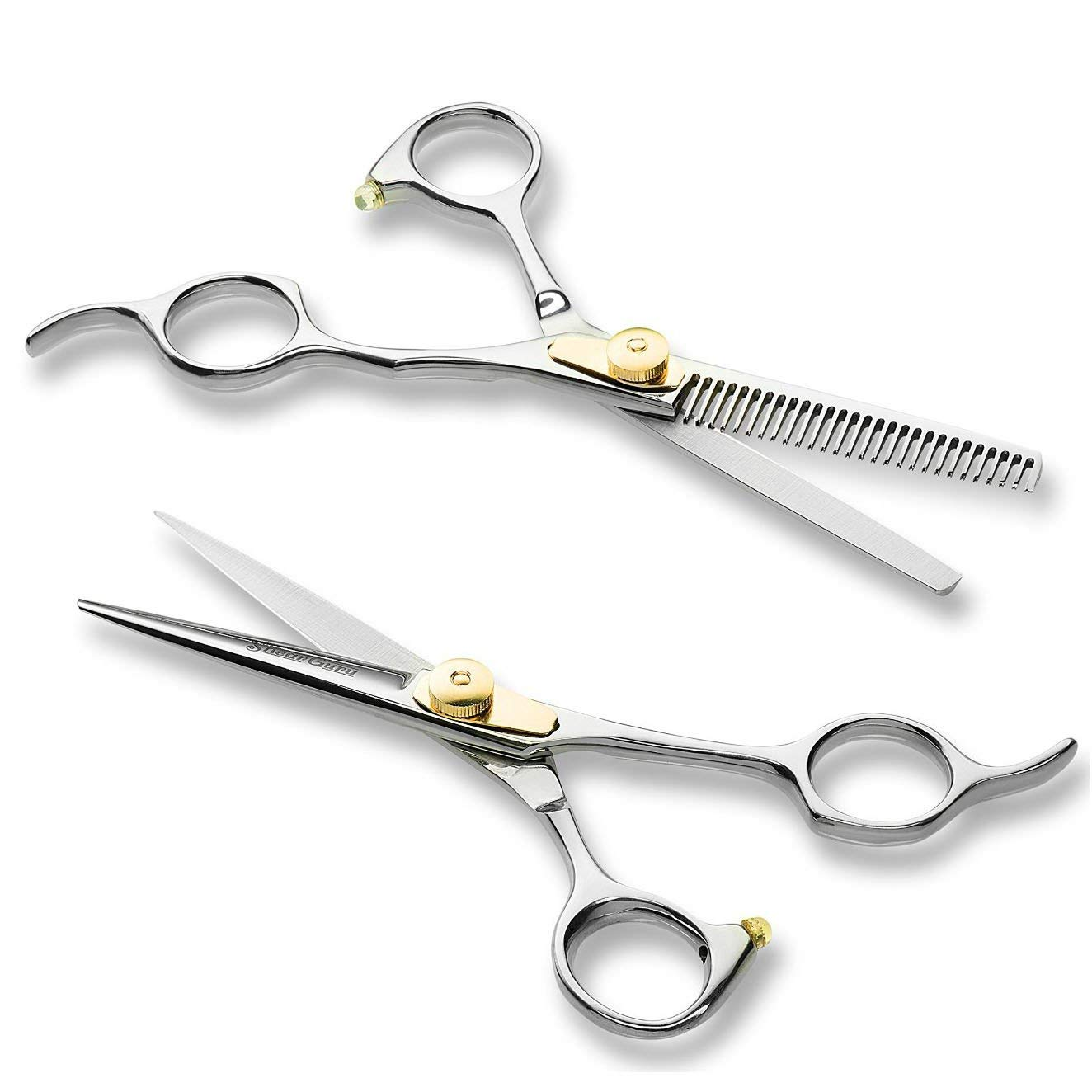 DOLA Hair Scissors, Professional Hair Cutting Shears, Barber/Salon/Home Thinning Shears Kit with One Regular Hair Scissors, One Thinning Scissors and One Grooming Comb