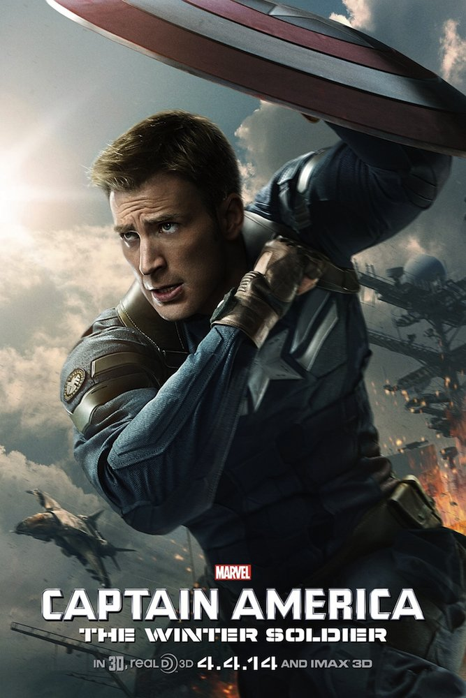 Captain America: The Winter Soldier (2014) : Movie Poster (Thick Poster) Original Size 24x36 Inch - Chris Evans, Frank Grillo, Sebastian Stan