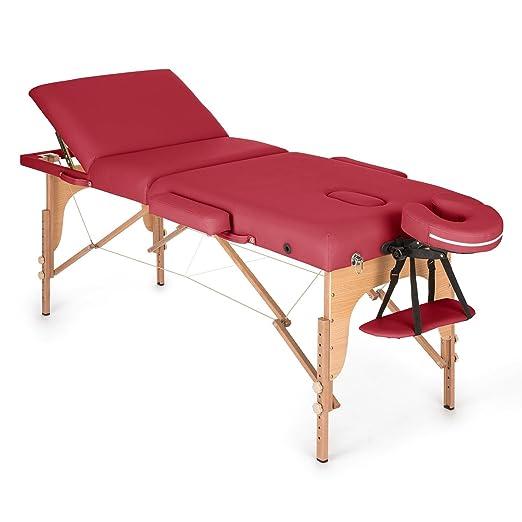 Klarfit MT 500 – Massageliege/Massagebank-210 cm mit Gesichtsbereich, Füllung Schaumstoff Zellen Feine 10 cm, komplett Anpass