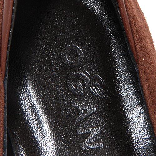 34477 Women Scarpa Marron Shoes Donna Hogan Decollete ZxRqApnP