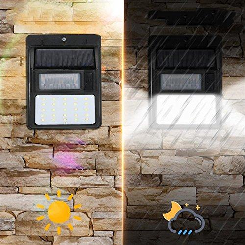 JCHUNL AL-SL20 Solar 35 LED PIR Bewegungsmelder Licht Wasserdichte Sicherheit Wandleuchte Street Outdoor New Hot (Farbe   4pcs)