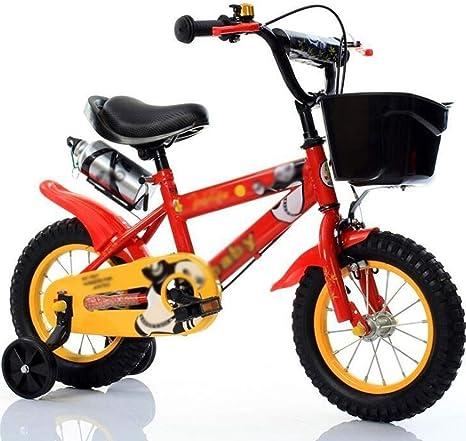 M-YN Bicicleta Niños con Ruedines Bicicletas for niños 3 4 5 6 7 8 años