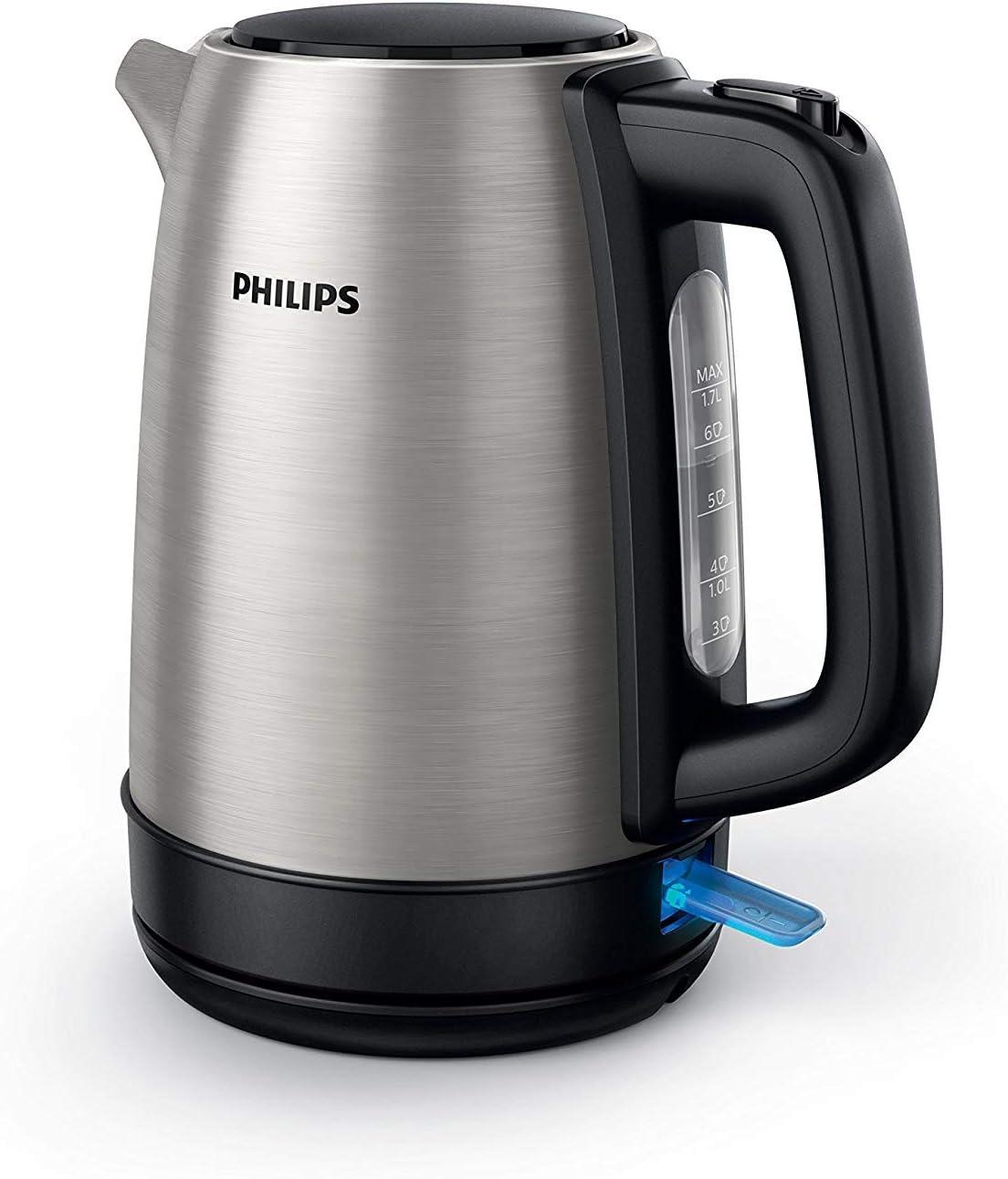 Philips HD9350 / 90 hervidor (2200 vatios, 1,7 litros, acero ...