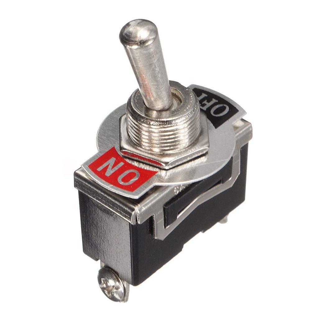 censhaorme 5pcs Heavy Duty Kippschalter Wasserdichte Abdeckung 12V ON//Off-Auto-Schlag-Licht 12 Volt SPST Metall Set Schalter