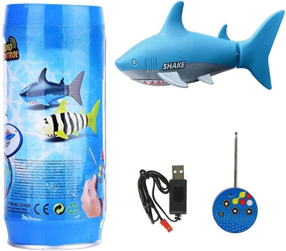 Ysoom Robo Piscis, barcos teledirigidos niños tiburón, Mini ...