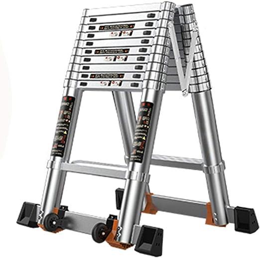 LJSJT Escaleras Plegables Marco de aleación de Aluminio Escalera Tipo A Ajustable Pedal Antideslizante Peso del rodamiento 150kg Escalera de 11 escalones 3.8 m de Altura: Amazon.es: Hogar