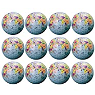 Novelty Golf Balls - World Map Design Professional Practice Golf Ball for Kids Woman Men, Ideal Golf Gift Christmas Gift by Aoduoer