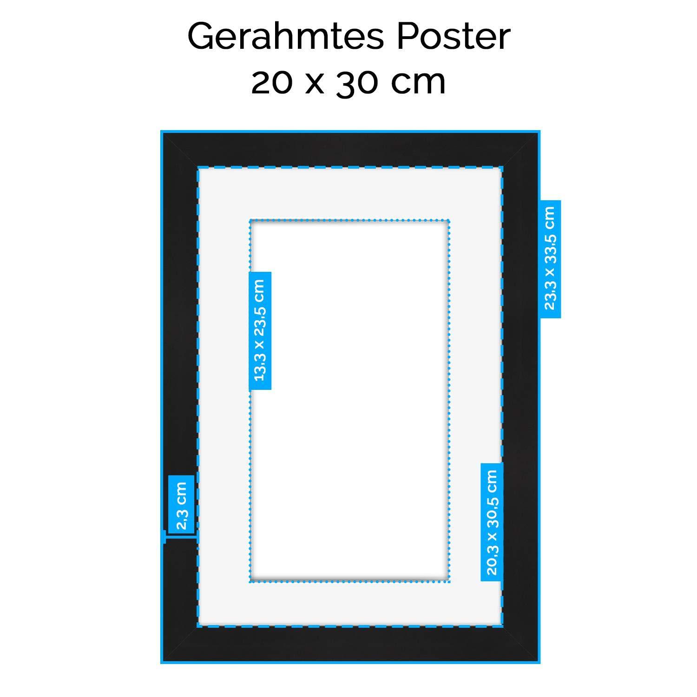 Amazon.de: artboxONE Poster mit Rahmen Kupfer 30x20 cm Love Rose ...