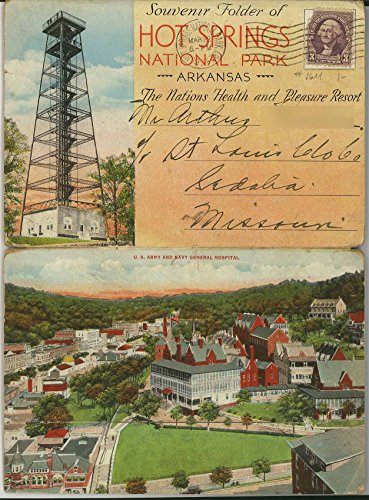 Hot Springs National Park Arkansas - The Nation's Health & Pleasure Resort - 1930's Souvenir Postcard (Postcard Hot Springs National Park)
