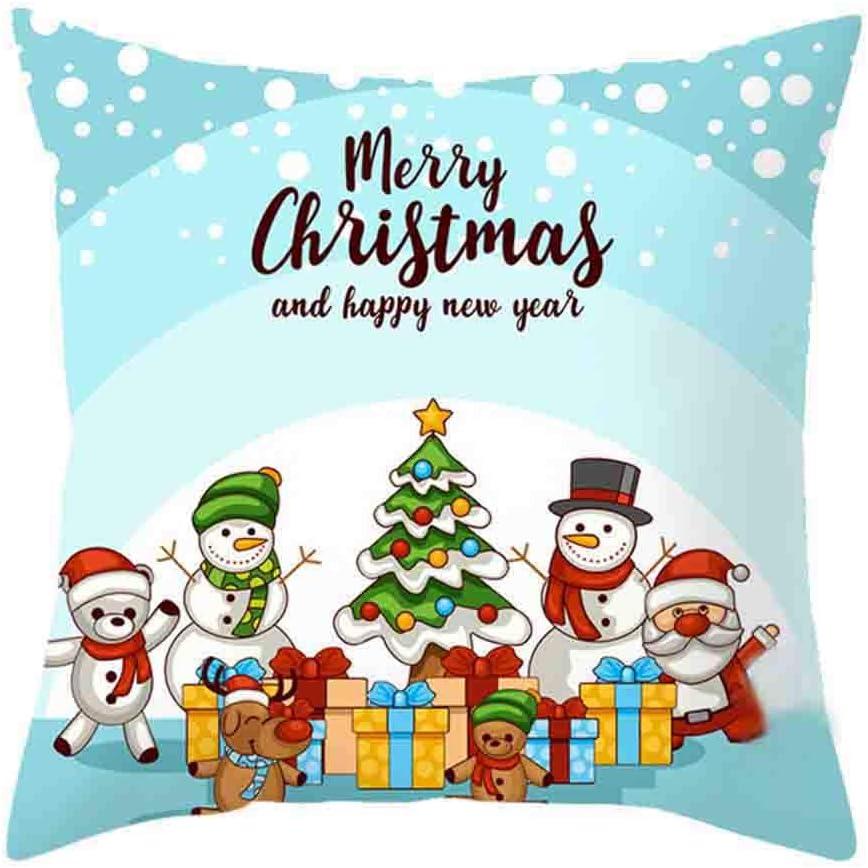 I, 18 x 18 inches Christmas Pillow Cover Decor Pillow Case Sofa Waist Throw Cushion Cover Throw Pillows