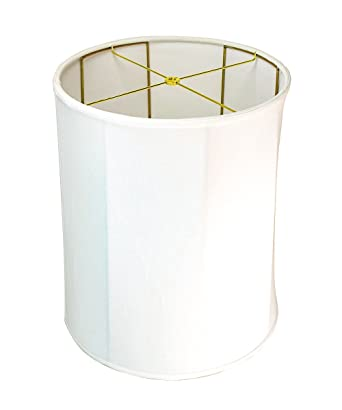 15x16x19 collapsible drum lampshade white linen with brass spider 15x16x19 collapsible drum lampshade white linen with brass spider fitter by home concept perfect for mozeypictures Gallery