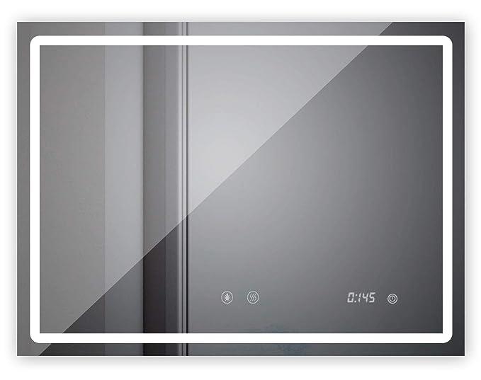 sogoo 24 W 60 x 80 cm espejo luminoso de cuarto de baño con iluminación LED