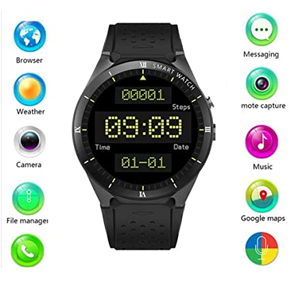 Amazon.com: ZM&M Smart Watch 1GB + 16GB Bluetooth 4.0 WiFi ...