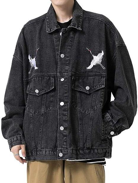(BaLuoTe)ジャケット メンズ ハンサム 春 秋 デニム ジャケット コート ファッション ジージャン 人気 無地 かっこいい ゆったり カジュアル 通学 トップス アウター