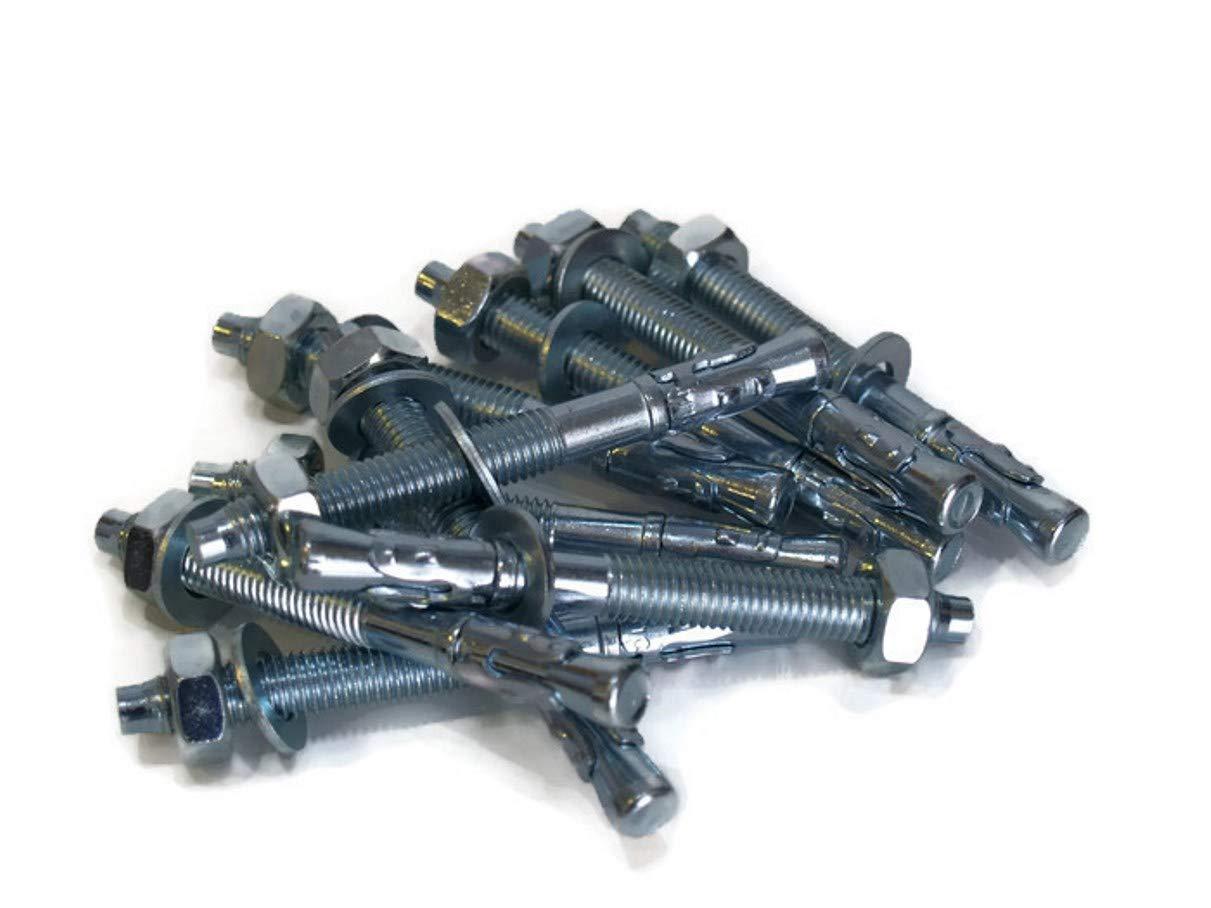 25 St/ück LSB M8 8x140mm Schwerlastd/übel Schwerlastanker Bolzenanker verzinkt Stalco