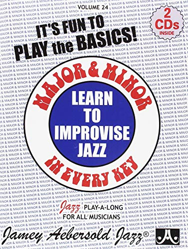 Major and Minor: Learn To Improvise Jazz in Every Key Vol. 24 (Book with 2 CDs) (Japanese Cd Player)