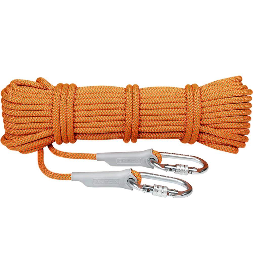 10.5mm RKY Corde de sécurité en altitude résistant à l'usure Climatisation Outil d'insTailletion Outil de nettoyage des murs extérieurs Corde d'assurance Corde de descente de vitesse extérieure, 3 types d'ép