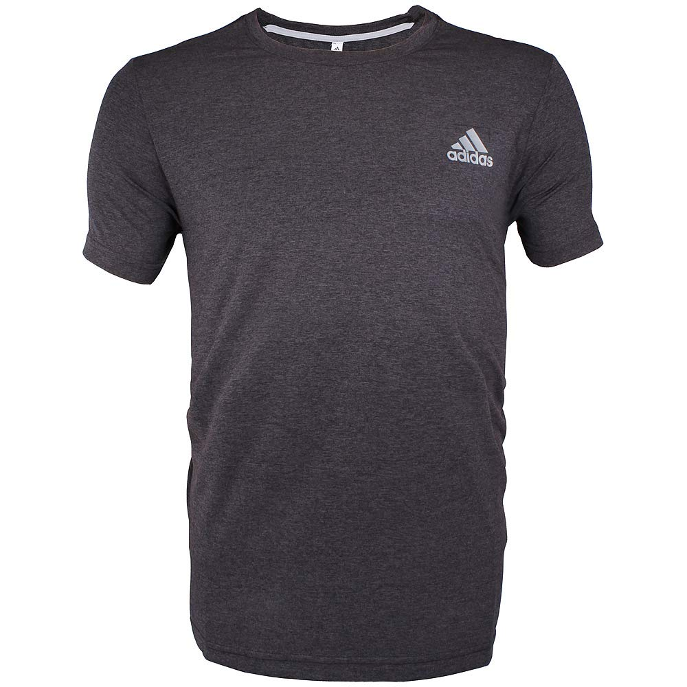 Men's Crew Neck 100% Polyester Active T-Shirt (Small, Dark Gray)