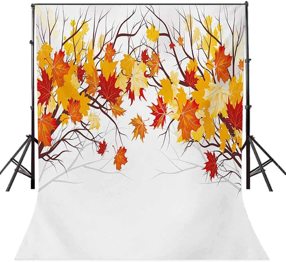 Fall 10x15 FT Backdrop Photographers,Image of Canadian Maple Tree Leaves in Autumn Season with Soft Reflection Effects Background for Photography Kids Adult Photo Booth Video Shoot Vinyl Studio Props