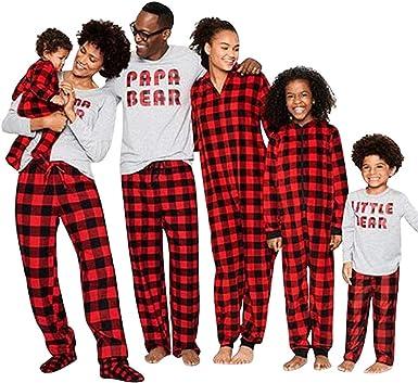 URMOSTIN Pijamas de Navidad Dos Piezas Pijamas Familiares ...