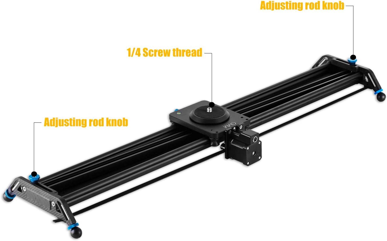 80 cm Syst/ème de rails avec acc/él/érateur motoris/é et prises vid/éo /« Follow Focus Shot /» Slider cam/éra GVM /« Track Dolly Slider /» Prise de vue panoramique /à 120/°