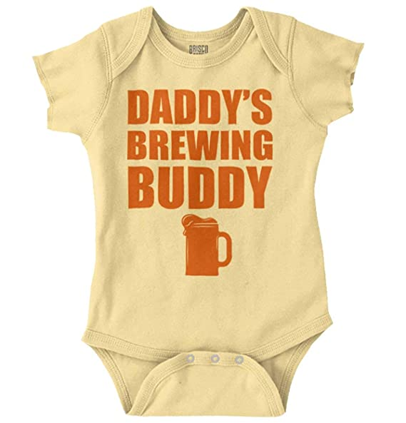 d82dbc2be Amazon.com: Daddys Brewing Buddy Drinking Milk Beer Romper Bodysuit ...