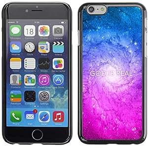Be Good Phone Accessory // Dura Cáscara cubierta Protectora Caso Carcasa Funda de Protección para Apple Iphone 6 Plus 5.5 // BIBLE God Is Real