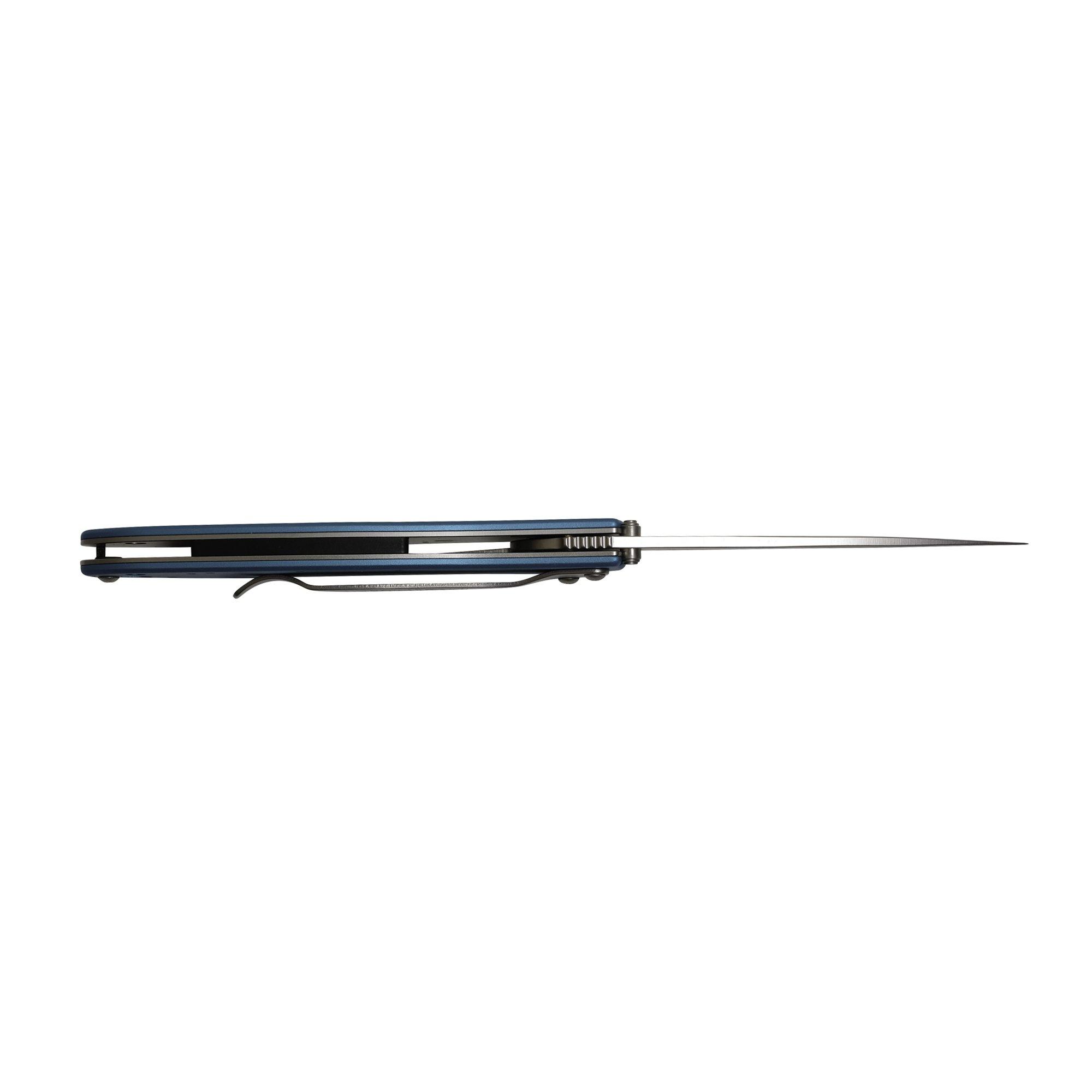 Kershaw Leek, Teal Pocket Knife (1660TEAL); 3'' Bead-Blasted High-Performance Sandvik 14C28N Steel Blade, Teal Anodized Aluminum Handle, SpeedSafe Assisted Opening, Liner Lock, Tip-Lock Slider; 2.4 OZ by Kershaw (Image #6)