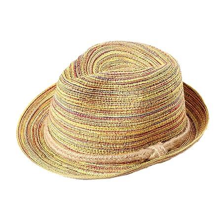 Da.Wa Viseras Gorra plana Gorras Sombrero de paja colorido y ...