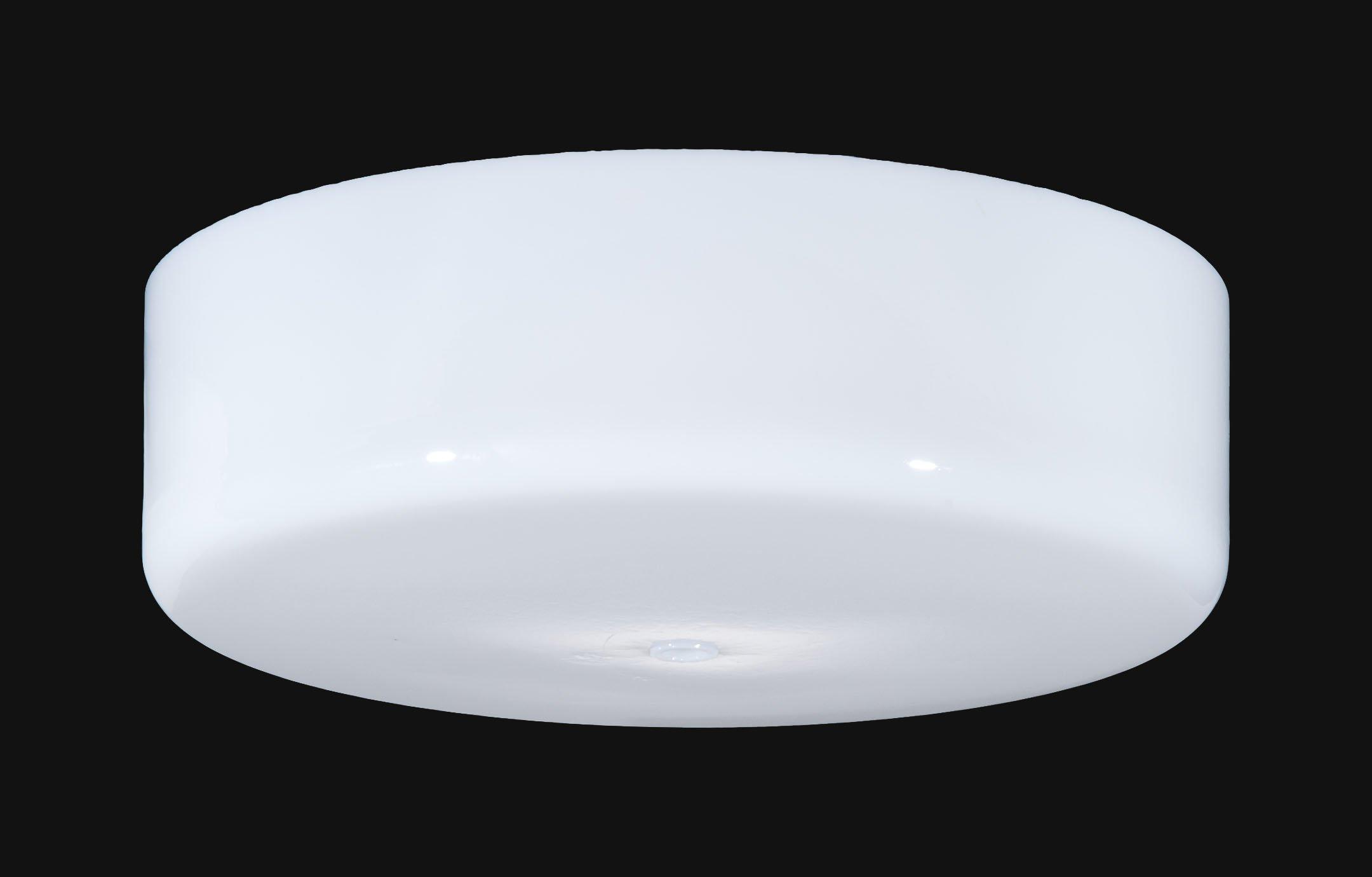 B&P Lamp Round Flush Mount Opal Glass Shade (12'')