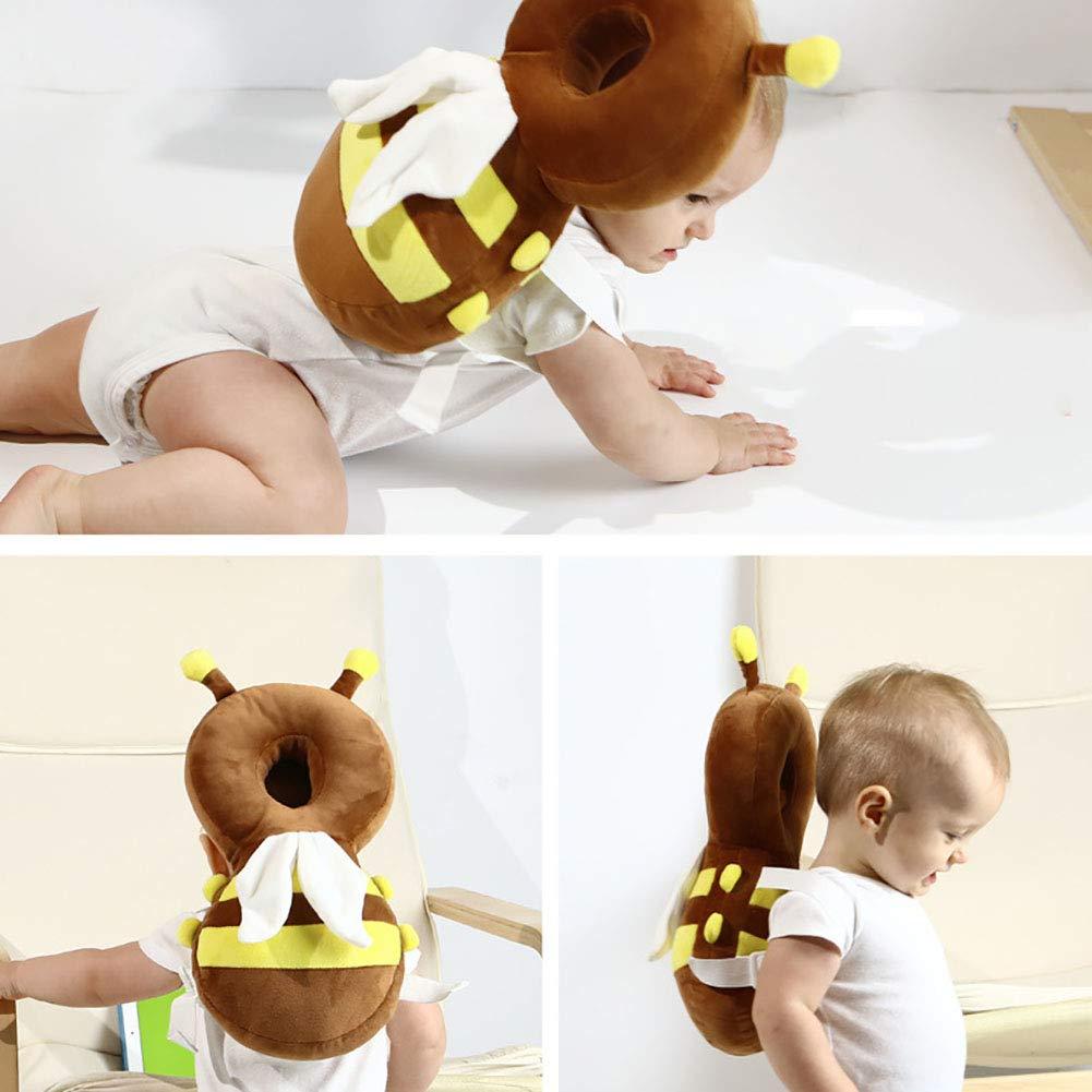 estilo abeja 1PC Almohada protectora ajustable para la cabeza del beb/é o almohadilla protectora