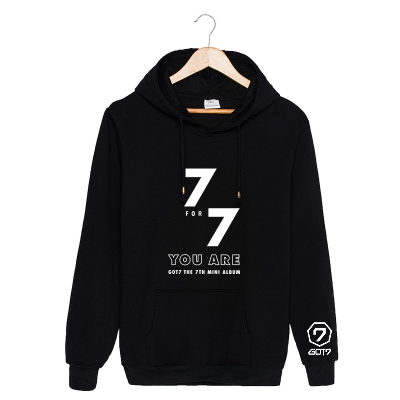 Lifestar Kpop GOT7 Hoodie Sweatshirt 7FOR7 You are Sweater Pullover (Black, US M = Asia XL)