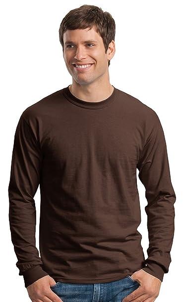 Gildan Ultra Cotton L//Sleeve Tee T-Shirt Uomo