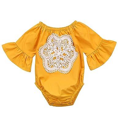 c95921dcca30 Amazon.com  Floral Newborn Kid Baby Girl Infant Romper Jumpsuit ...