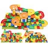 CHTH 176PCS Large Marble Run Blocks Building Sets,Large Particle Orbit Building Block Combination,Educational Parent…