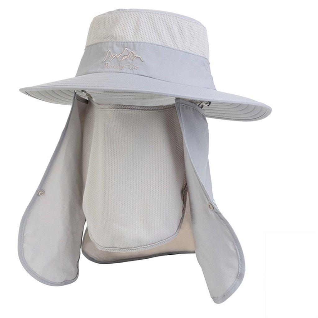 Sun Hat Hat Sun Men Verano Shade Outdoor Climbing Cover Face Protección Solar Anti-UV (Color : E) faefd8