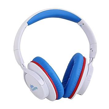 Ausdom AH861 Auricular Música Bluetooth (Uno BT Conectar Dos Auriculares, Manos Libres, Compatible con IOS Android Smartphone Pad Tableta Pc), Azul Blanco: ...