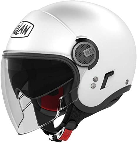 NOLAN N210001030051 N21 Visor Classic Metal White