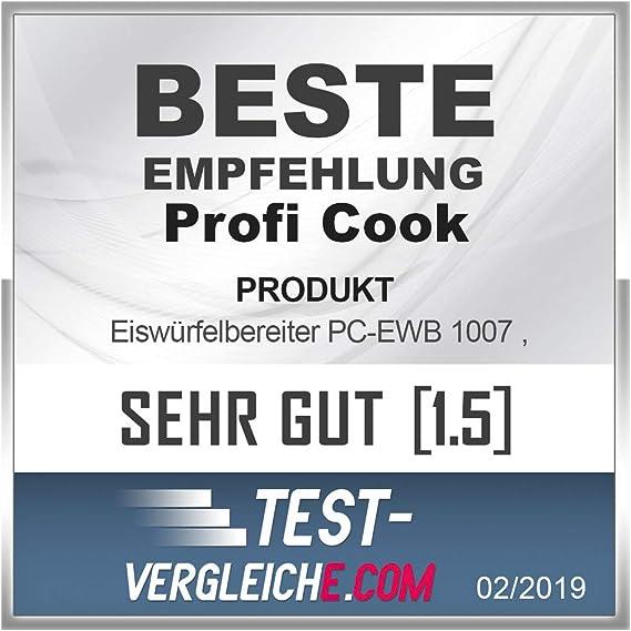 ProfiCook PC-EWB 1007 Máquina de hacer cubitos de hielo, 10-15 kg ...