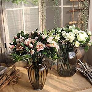 super1798 1Pc Artificial Fake Camellia Simulation Flower Wedding Party Home Decoration 68